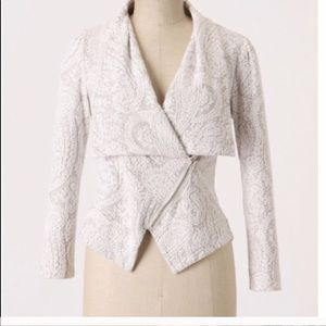 Anthropologie Moth Lace Brocade Moto Jacket M $198